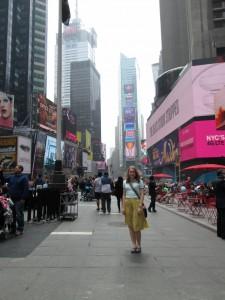 Amanda in Times Square
