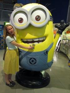 Amanda with Minions