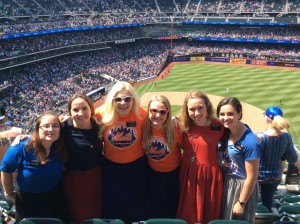 Amanda and other sisters at the Mets game