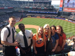 Amanda and sisters and elders at Mets game