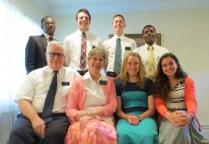 With the Palmers- the senior missionary couple
